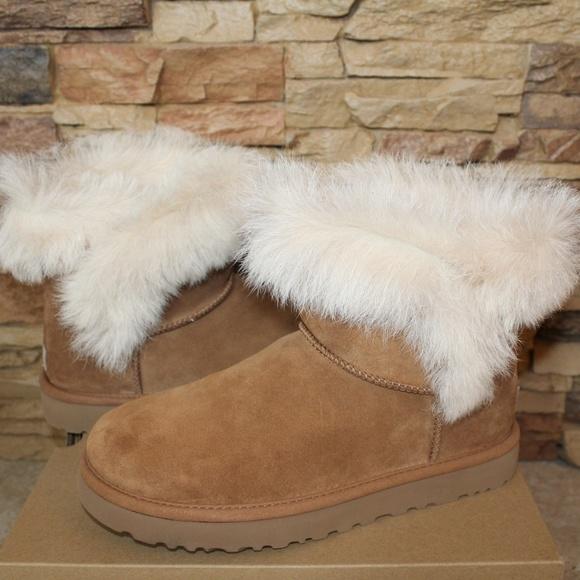 ba5892767e1 UGG MILLA MINI Toscana Fluff Suede Shearling Boots Boutique